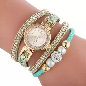 Wrap-around bracelet watch